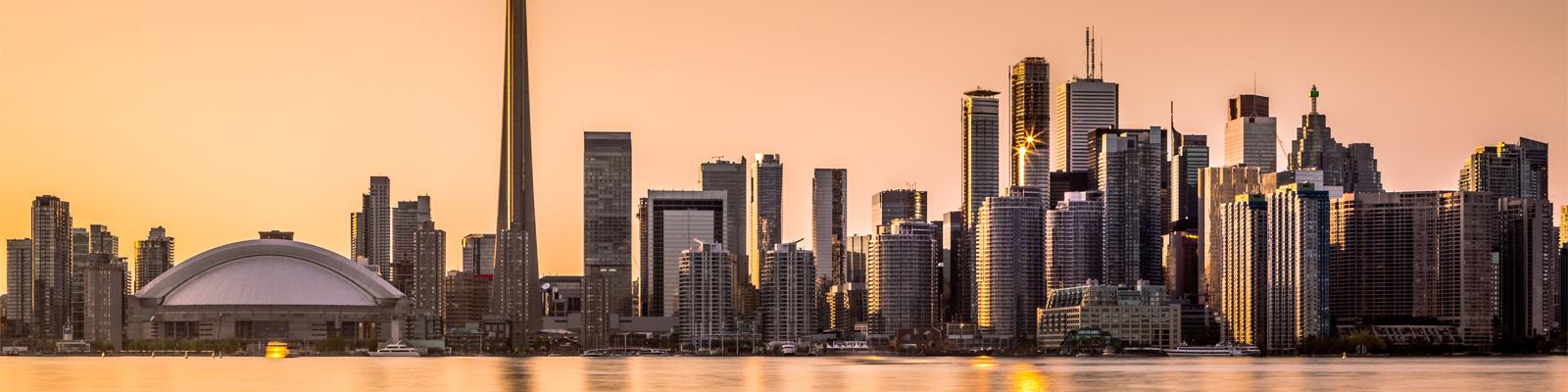 Downtown Toronto, Ontario at Sunset